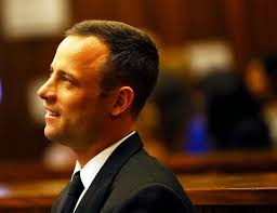 Oscar Pistorius in court day 25, room for a smile!