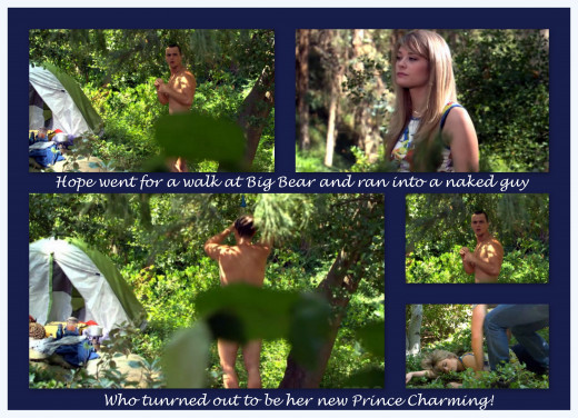 Hope and Wyatt had a classic soap opera cute meet.  Combination naked guy and Prince Charming