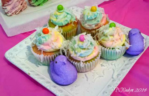These rainbow cupcakes are a cute dessert idea for Easter or anytime you are in the mood for a pastel-colored rainbow.