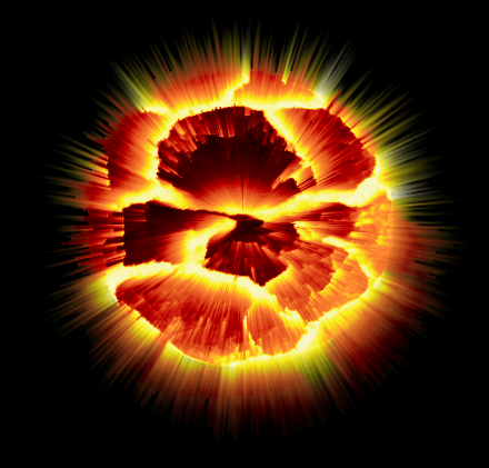 Exploding Planet with The Gimp 2.4.6 by Universalmaster