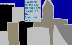 American buildings scrape the sky!