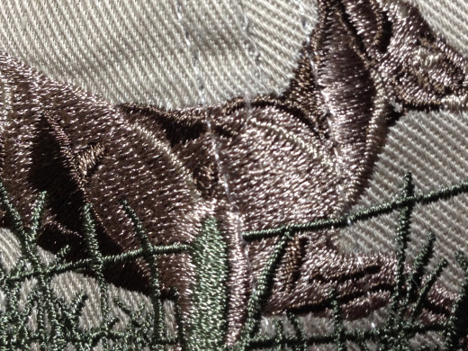 Part of a very dense embroidery design that would require several thousand stitches.