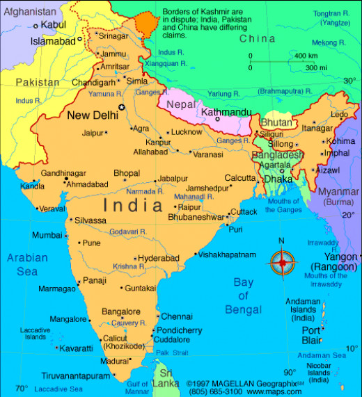 Seen geographically India is a subcontinent.
