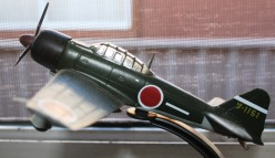 A model of  a World War Two Japanese fighter.