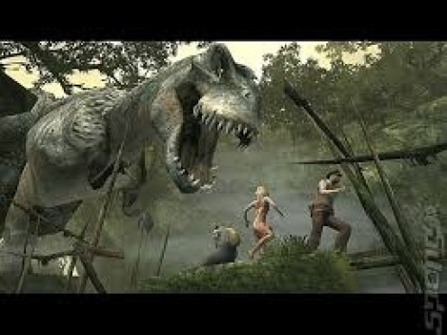 King Kong was released for the PS2 and the Xbox and the graphics, sound and game play are superb. You have to use weapons and your brain to get rid of the T-Rex.