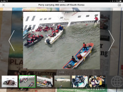 The iPad has been moved away from the newspaper, enabling the photos to be seen in a stand alone slide show.