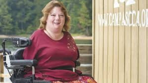 Allison Weatherbee has worked with other disabled children for yeas at Camp ASSCA.