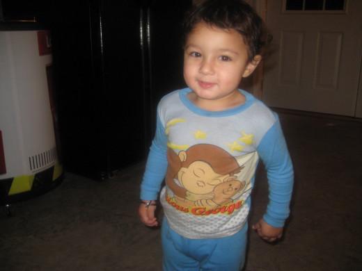 Devinder, my Curious George nephew   :)