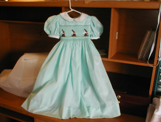 There are lots of cute Easter dresses for babies and little girls...