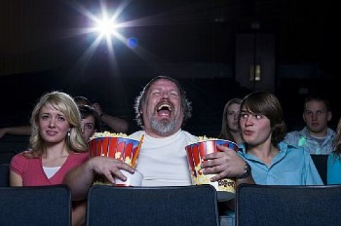 Excessive laughter can kill a good time for others in a movie theater.