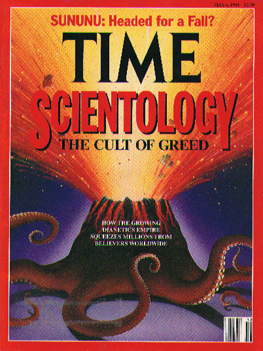 "Time Magazine's May '91 Cover ""Scientology: The Cult of Greed"""
