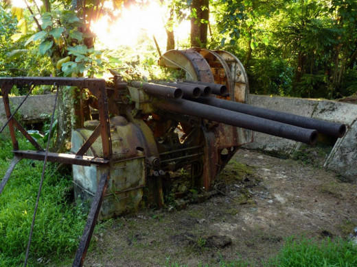 Japanese Anti-Aircraft Gun, Sokehs Rock, Pohnpei