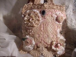 Shabby Paris Chic Bag by Deborah Murphy.