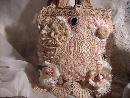 Shabby Paris Chic Bag by Deborah Murphy.