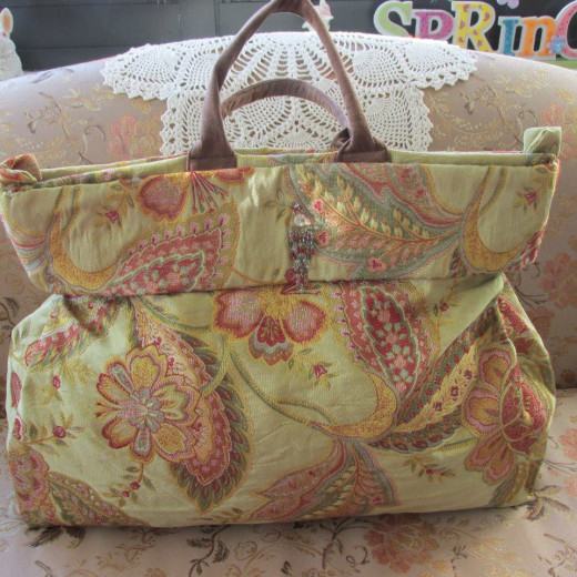 """From a happy customer: Mary Jane Silvestri DiMona. From Deborah: """"So happy you like it!! How nice.. It looks better in your photos then mine... Maybe you should be my bag photographer!!!  Thank you!!"""""""