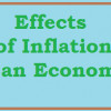 Common Effects of Inflation ; A Brief Note