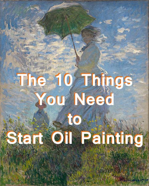 Oil painting tools and materials for beginners feltmagnet for How to start oil painting