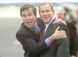 Jeb with Brother George during W.'s time in the White House.