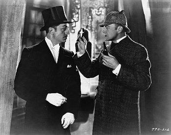 """Sherlock Holmes,"" with ""Dr. Watson."""