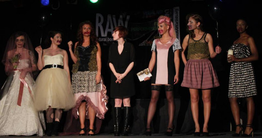 Designer Lizz Gibson and her runway team
