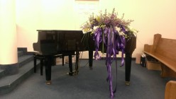 The church does not have an organ, but a baby grand piano was donated by a member.