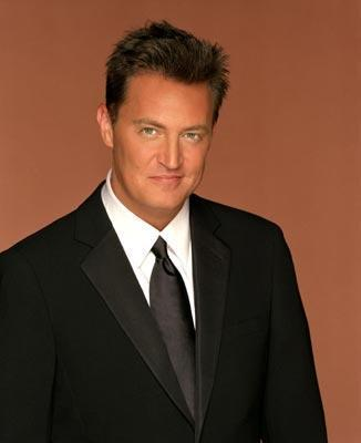 A promotional photo of actor Matthew Perry, who starred as Chandler Bing on the NBC sitcom Friends.