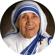 Blessed Teresa of Calcutta, M.C.  1979 Nobel Peace Prize for her charity work