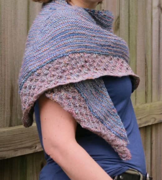 textured shawl knitting pattern