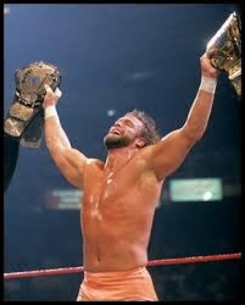 Randy Savage was known for his high flying moves off the top ropes and his tenacity inside the ring.