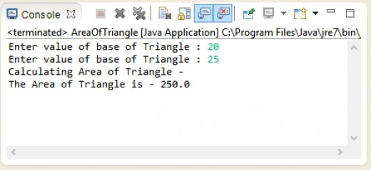 Java Program to Find Area of Square,Rectangle and Circle using Method Overloading