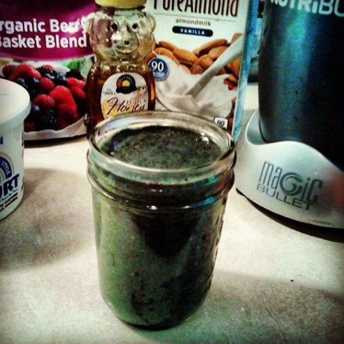 Quick and Easy Super Food Smoothie Nutri-Bullet recipe