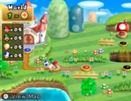 The main map where players progress through levels by following the path.