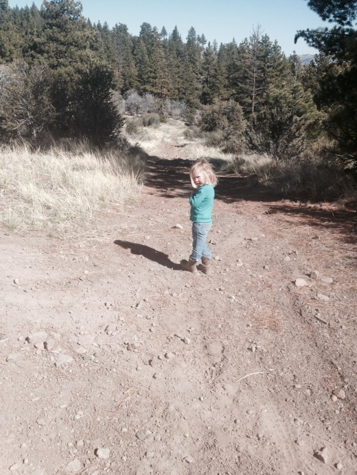 Hannah on the hike.