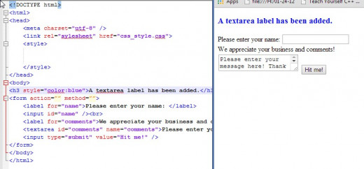 A  has been added. The textarea has been prefilled with some comment information which the user may discard or modify.