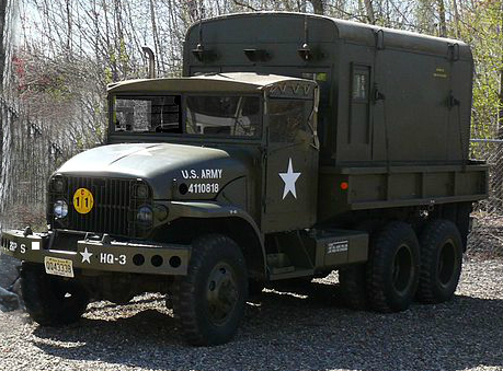 A 2½ ton Army truck or deuce and a half.