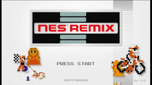 NES remix title screen