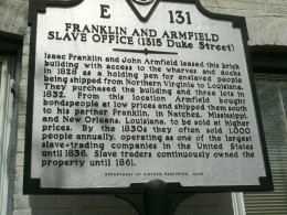Plaque outside Freedom House in Alexandria, Virginia