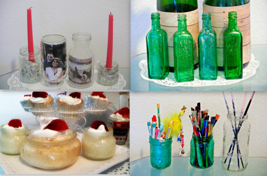 Creative ways to recycle and re purpose glass bottles and jars - How to recycle glass bottles ...