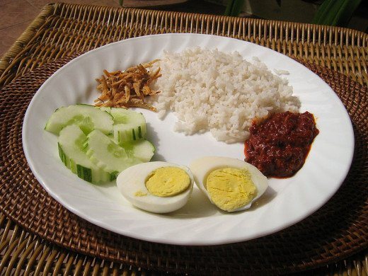 'Nasi Lemak' Or Coconut Rice Is Delicious