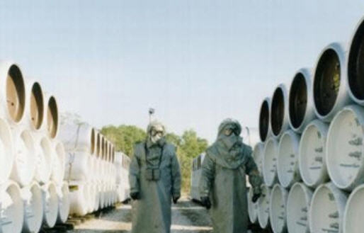Chlorine gas containers