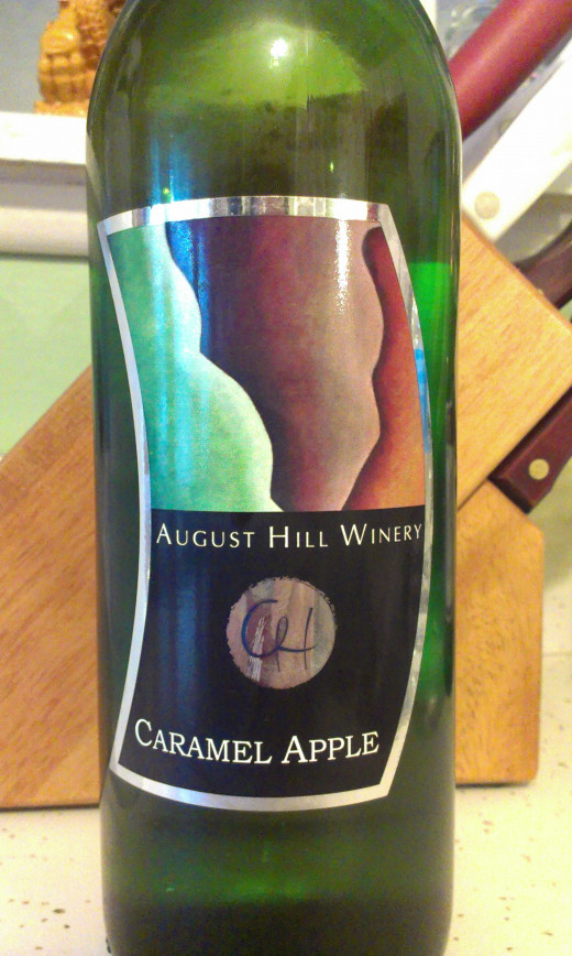 August Hill Winery Carmel Apple wine