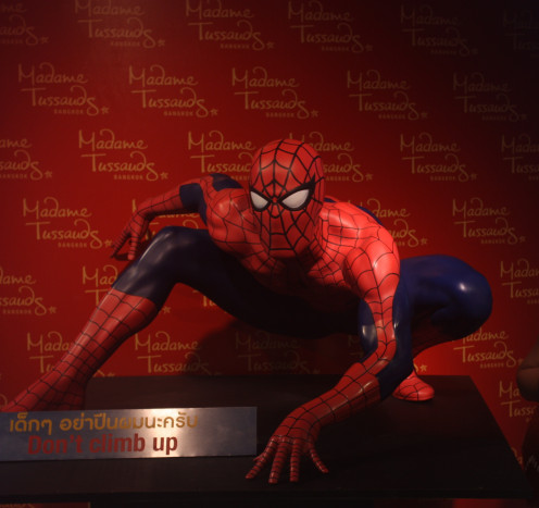 """Hello Spidy!"" at Madame Tussauds"
