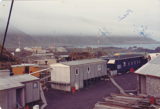 This is a typical morning at Macquarie with the island's fog blanketing the plateau.   Pardon the scratches on the photo.  It was an old slide and not placed on PC until years later