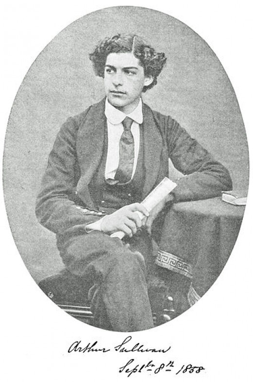 Arthur Sullivan's musical talent was recognized at a young age. This picture was  taken shortly after winning a scholarship which brought him to Leipzig for musical training.
