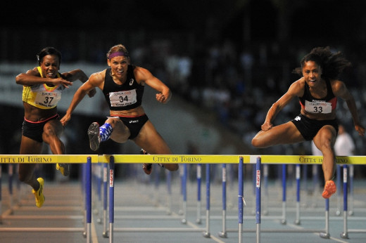 110m Hurdles Women's Race at the XIX Turin International Track and Field meeting. June 8, 2013, Turin, Italy.