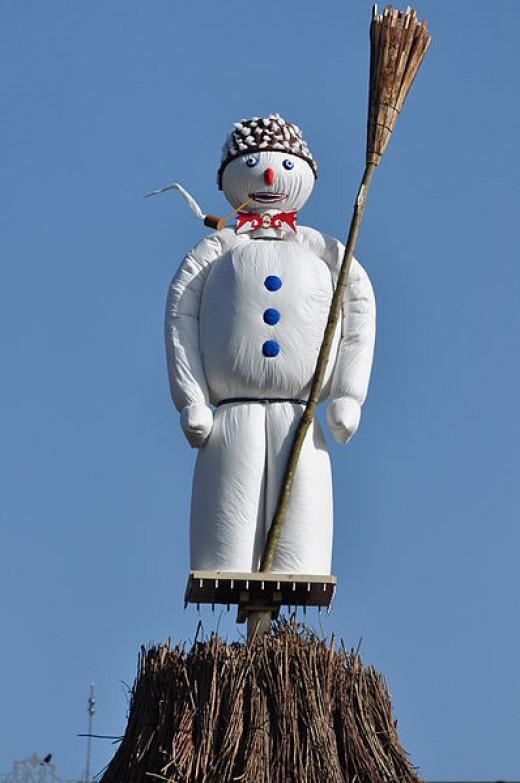 Böögg the Snowman at Sechseläuten in 2012 before being burned.
