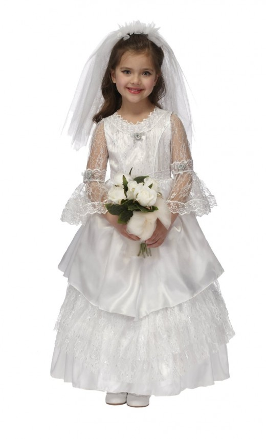 Bridal Gown Inspired Flower Girl Dress