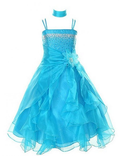Crystal Organza Flower Girl Dress