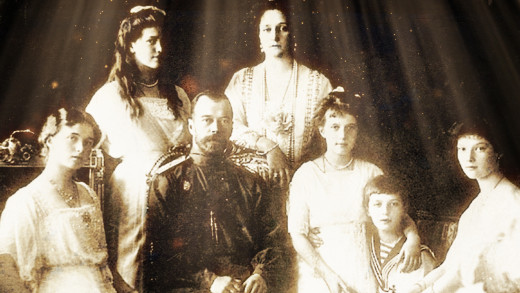 Tsar Nicholas II and the royal family. Later all killed by the Communists.