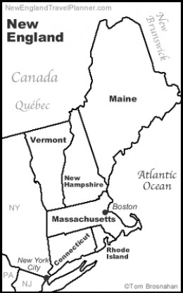 New England, Northeast USA.